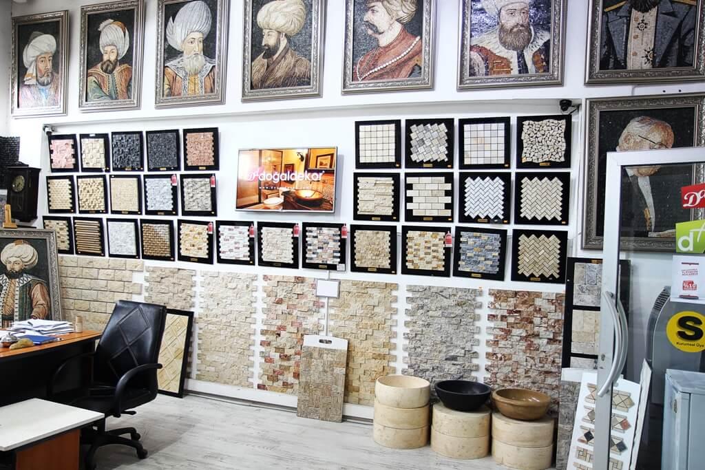 istanbul mermer traverten patlatma ve eskitme ürünleri imalati