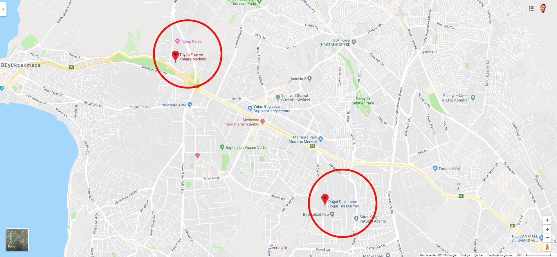Yapı Fuarı İstanbul Tüyap 2019 Adres