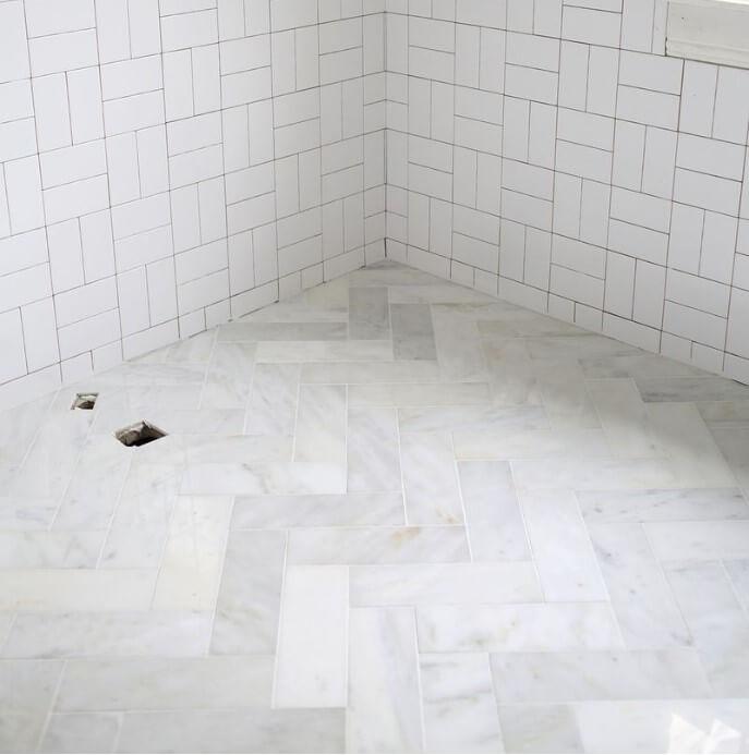 Mermer Banyo Yer Döşeme