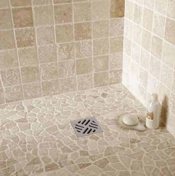 Traverten Taş Döşeme Banyo 1x10x10cm